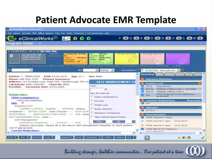Patient Advocate EMR Template