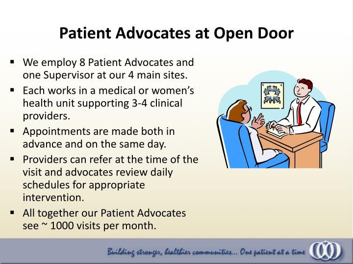 Patient Advocates at Open Door
