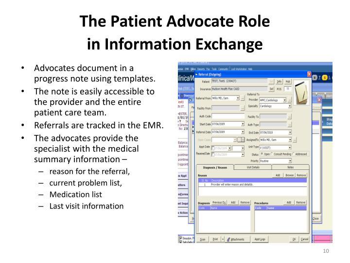 The Patient Advocate Role