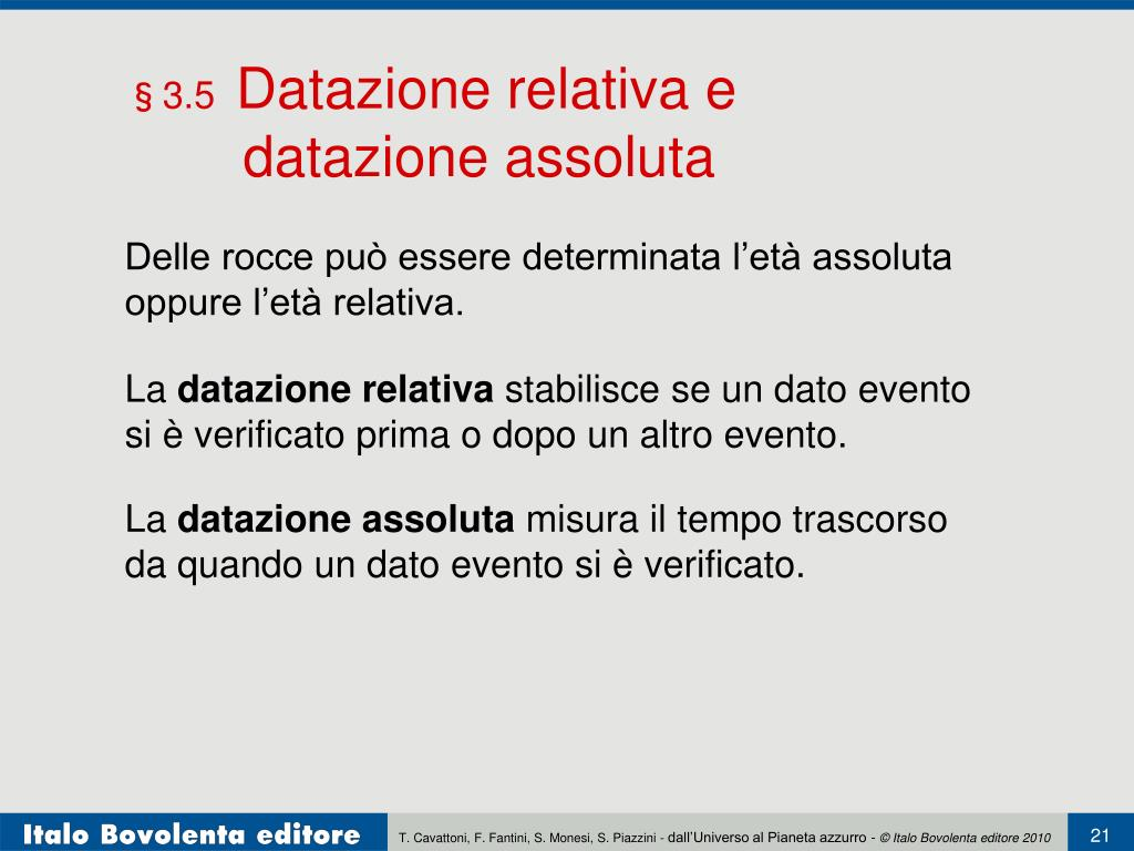 Datazione radiometrica PowerPoint
