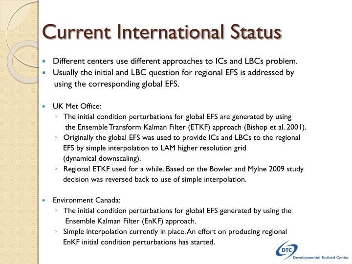 Current International Status