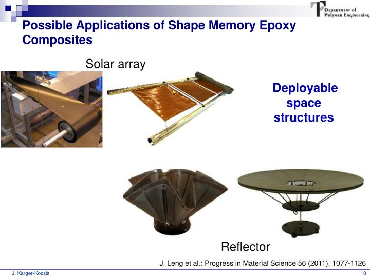 Possible Applications of Shape Memory Epoxy Composites
