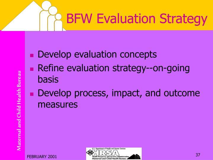 BFW Evaluation Strategy