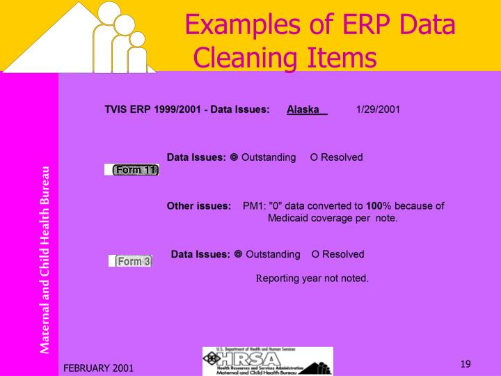 Examples of ERP Data