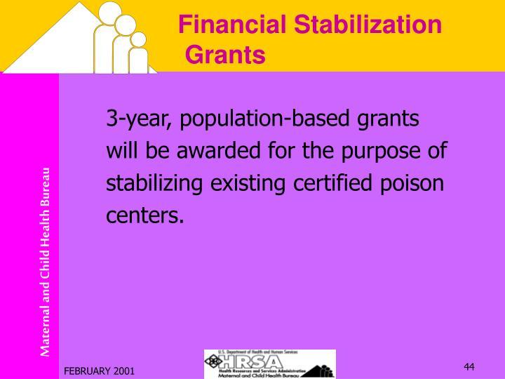 3-year, population-based grants