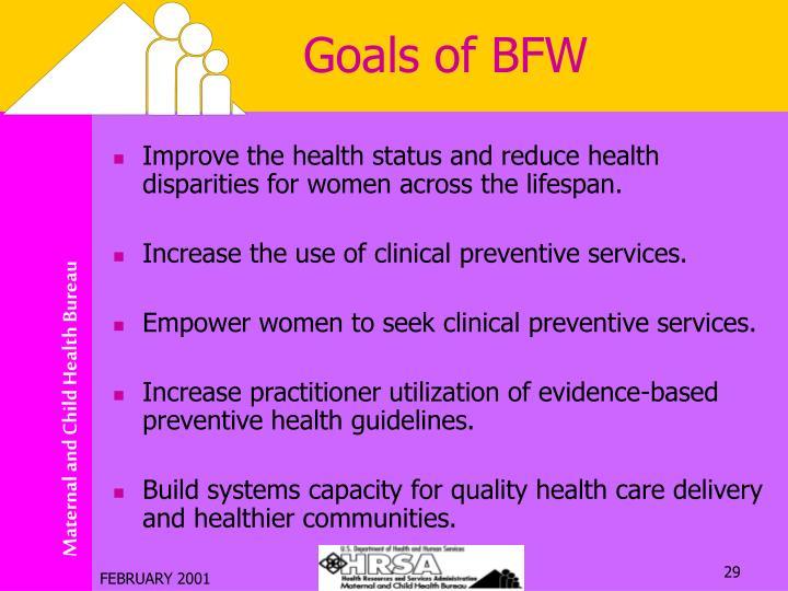 Goals of BFW
