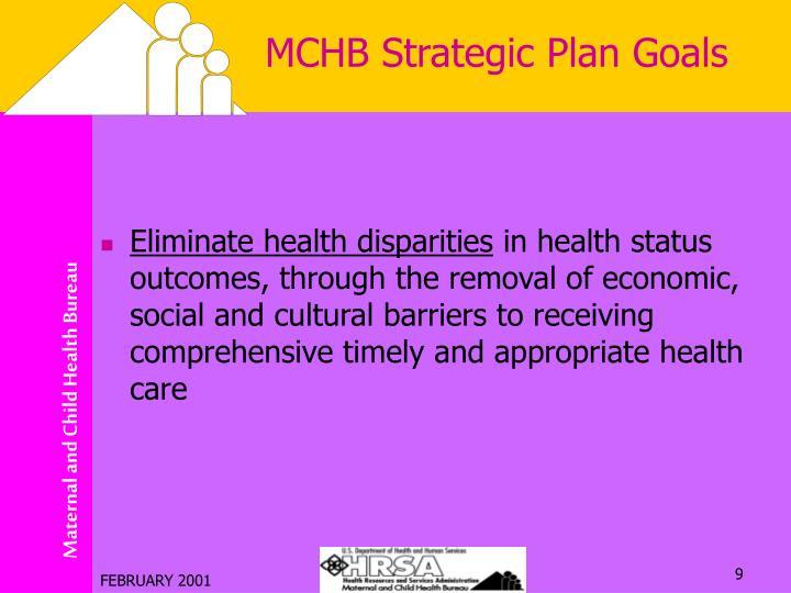 MCHB Strategic Plan Goals