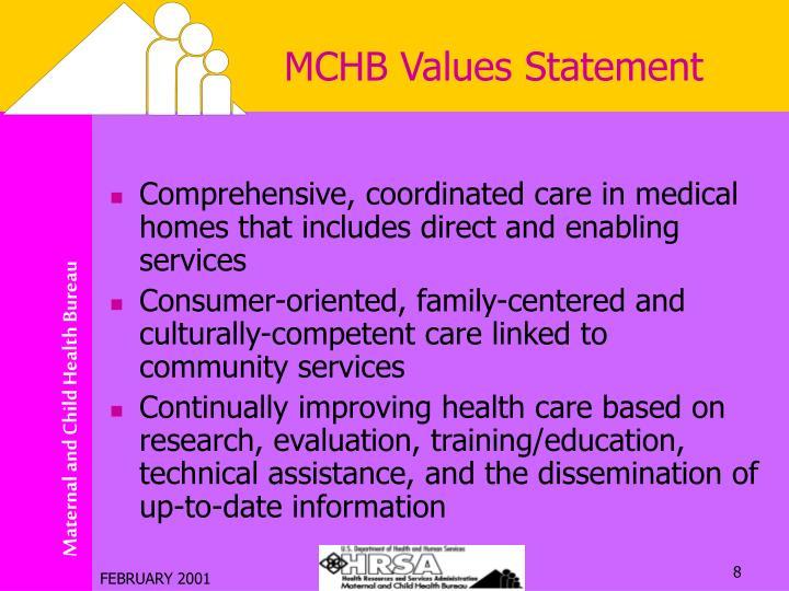 MCHB Values Statement