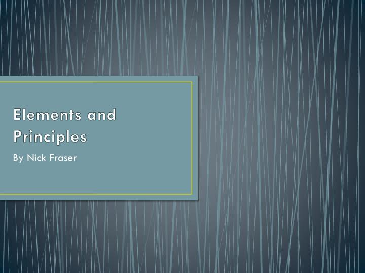 elements and principles n.