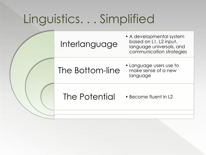 Linguistics simplified