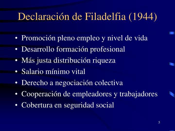 Declaración de Filadelfia (1944)
