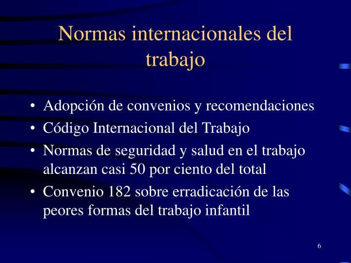 Normas internacionales del trabajo