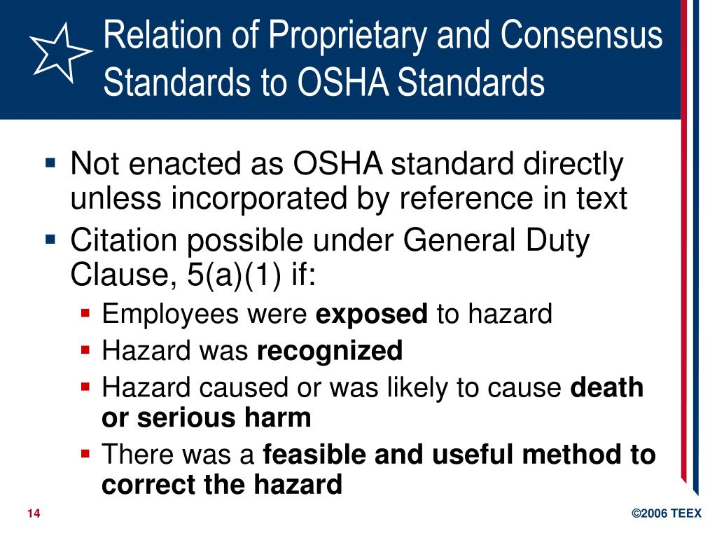 PPT - Introduction to OSHA Standards PowerPoint Presentation - ID