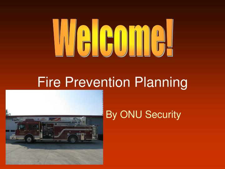 fire prevention planning n.
