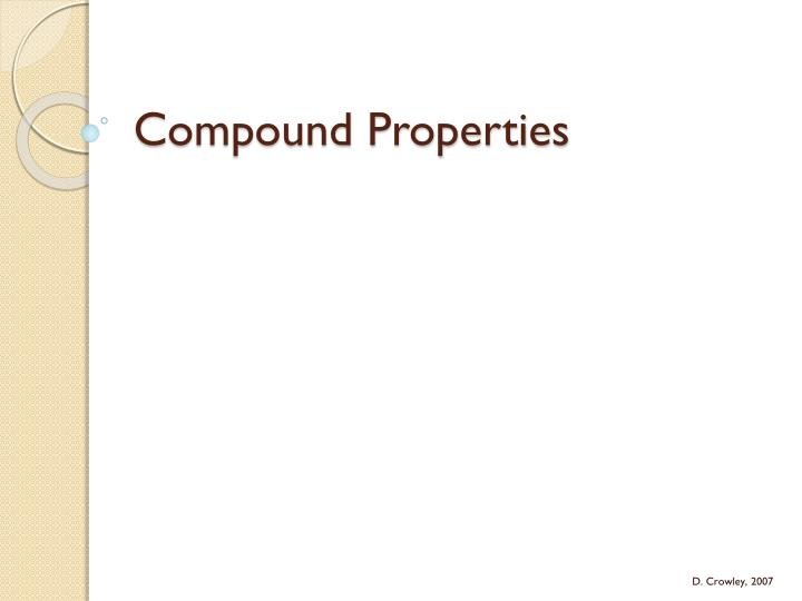 compound properties n.