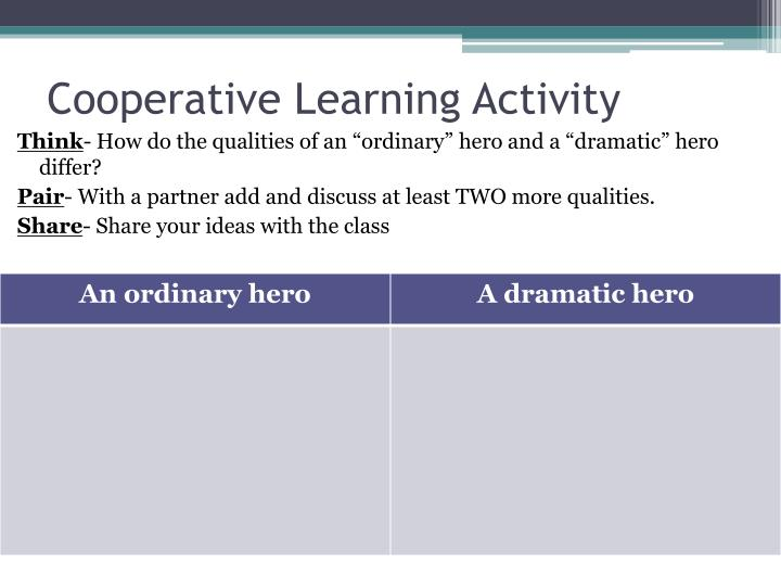Cooperative Learning Activity