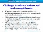challenges to enhance business and trade competitiveness
