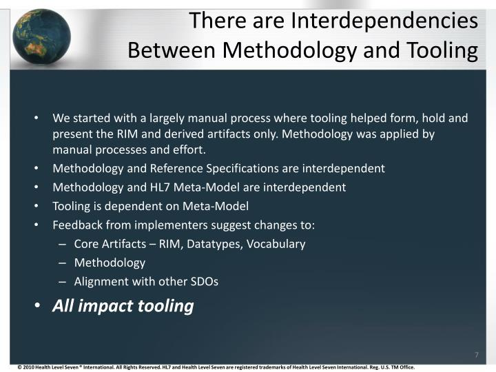 There are Interdependencies Between Methodology and Tooling