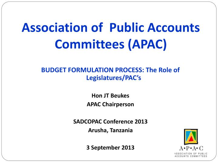 association of public accounts committees apac n.