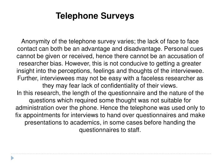 Telephone Surveys