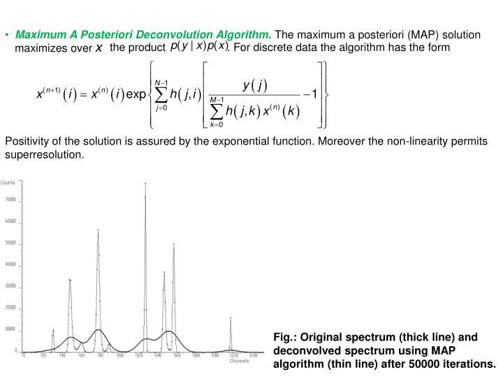 Maximum A Posteriori Deconvolution Algorithm.