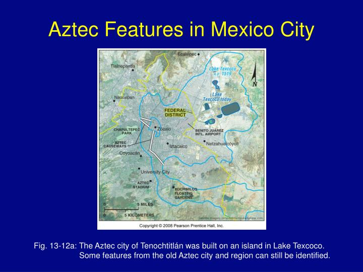 Aztec Features in Mexico City