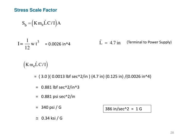 Stress Scale Factor