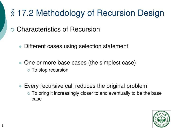 §17.2 Methodology of Recursion Design