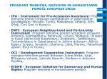 programi tehni ne razvojne in humanitarne pomo i evropske unije