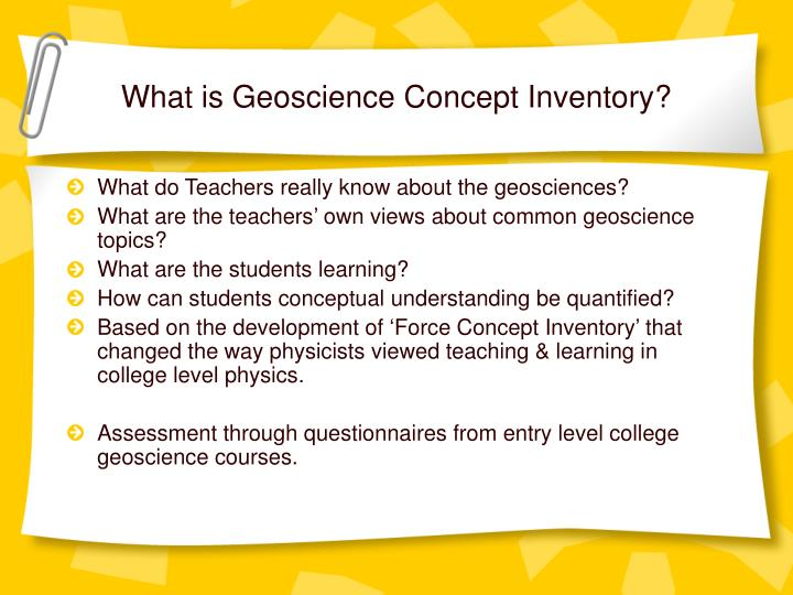 What is geoscience concept inventory