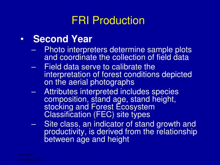 FRI Production