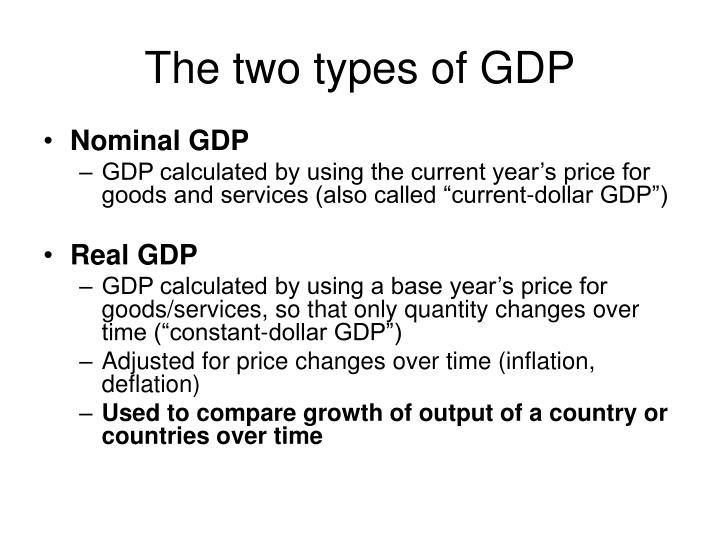 The two types of gdp