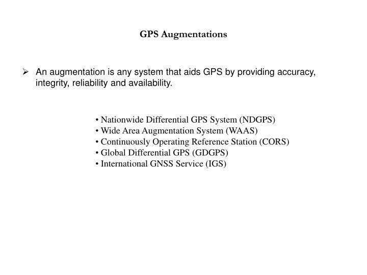 GPS Augmentations