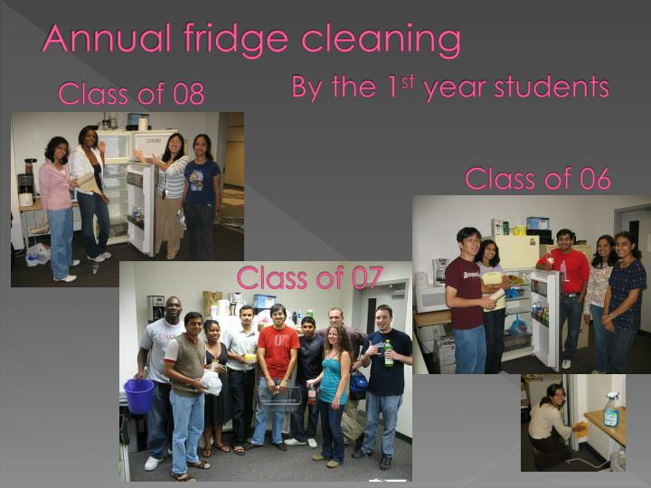 Annual fridge cleaning