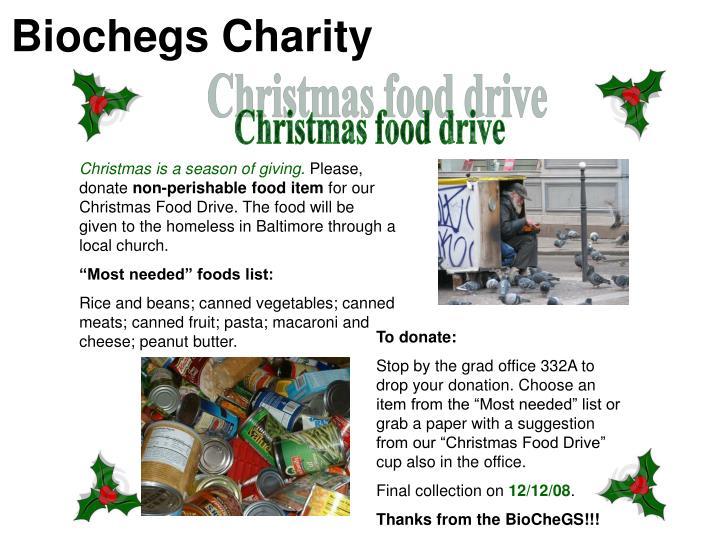 Biochegs Charity