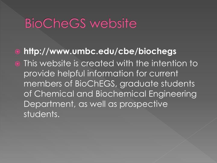 BioCheGS website
