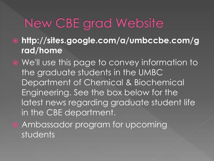 New CBE grad Website