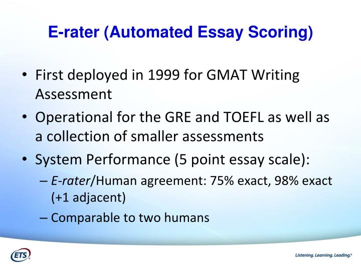 gmat essay e-rater Offers gmat basics, covering gmat testing  carefully read our tens of sample responses to real essays to get informed how an e-rater-friendly essay can be.