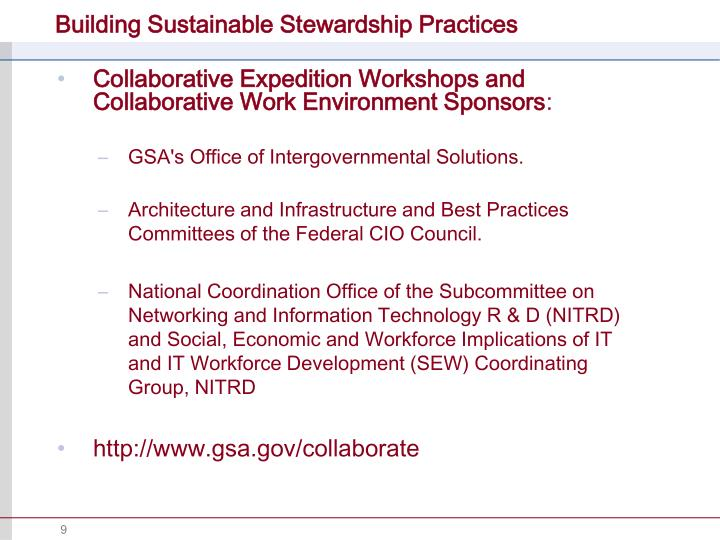 Building Sustainable Stewardship Practices