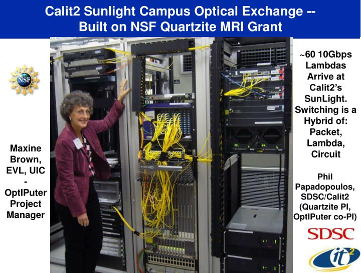 Calit2 Sunlight Campus Optical Exchange --