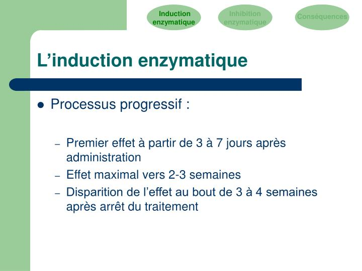 L'induction enzymatique
