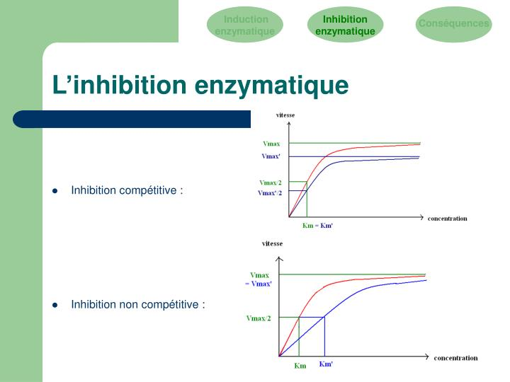 L'inhibition enzymatique