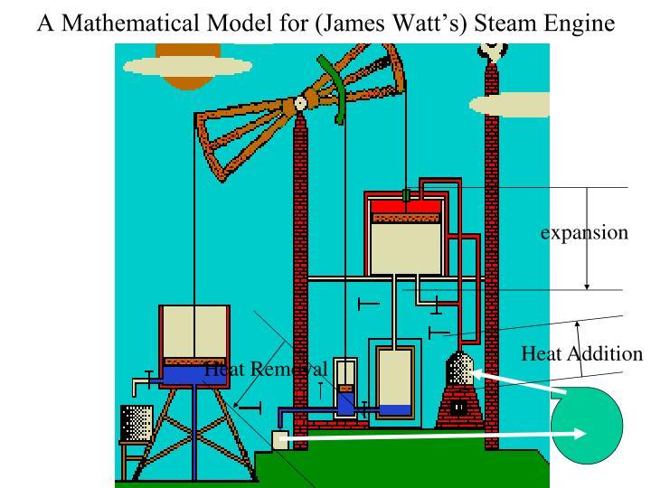 A mathematical model for james watt s steam engine