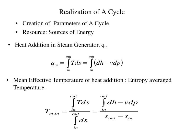 Realization of A Cycle