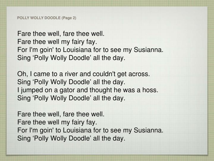 POLLY WOLLY DOODLE (Page 2)