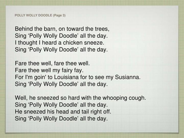 POLLY WOLLY DOODLE (Page 3)