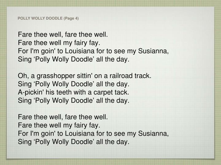 POLLY WOLLY DOODLE (Page 4)