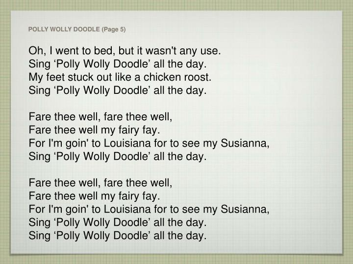 POLLY WOLLY DOODLE (Page 5)