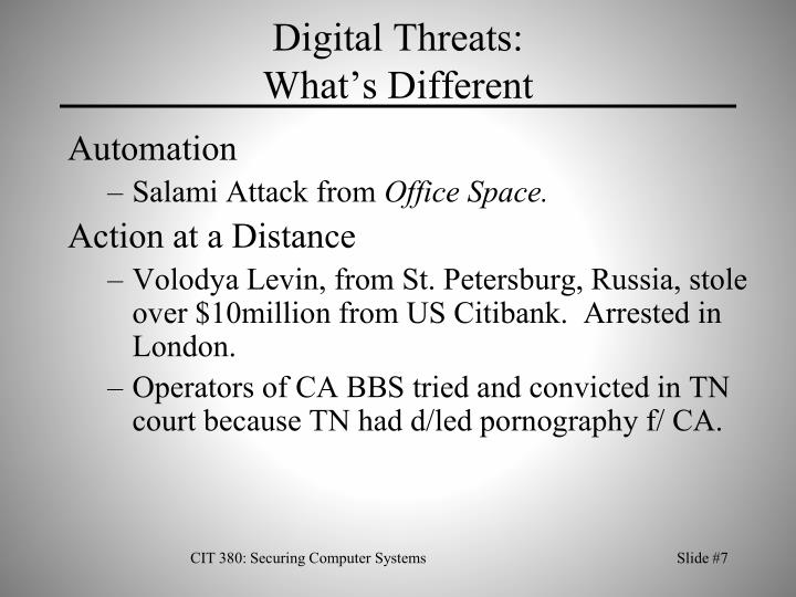 Digital Threats: