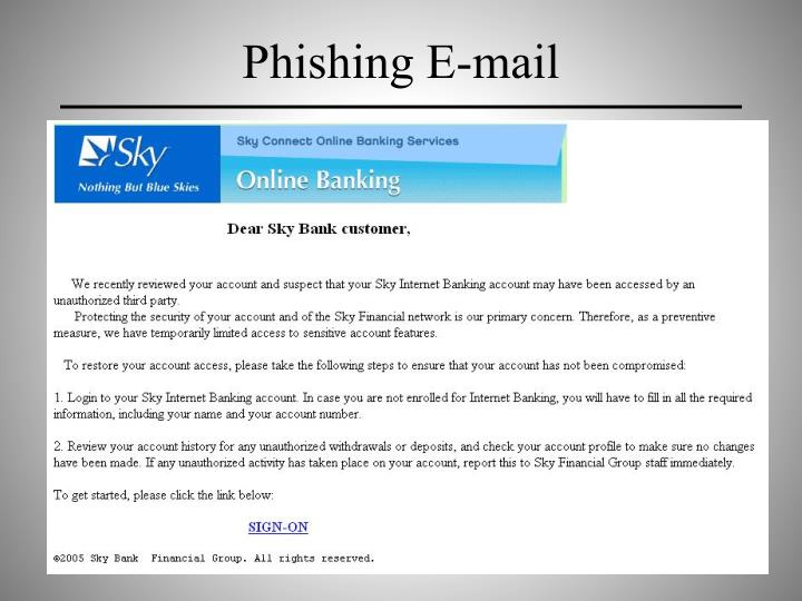 Phishing E-mail